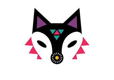 Navajo Fox Print by Susan Claire