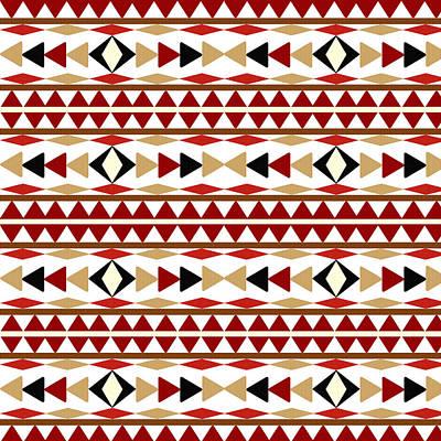 Mixed Media - Navajo White Pattern by Christina Rollo