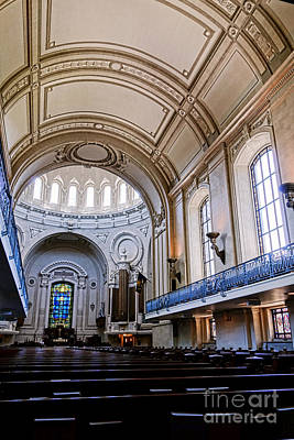 Coeducational Photograph - Naval Academy Chapel Interior by Olivier Le Queinec