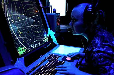 Naval Air Traffic Control Print by Us Air Force/gretchen M. Albrecht