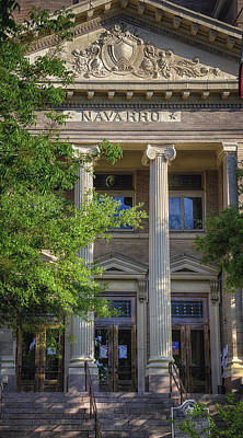 Navarro County Courthouse Print by Joan Carroll