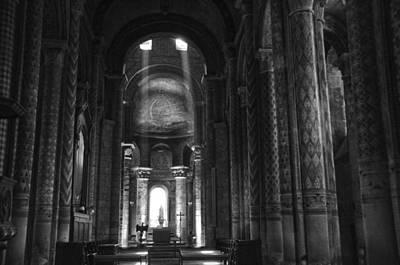 Religious Art Photograph - Nave Of Eglise Notre-dame La Grande De Poitiers by RicardMN Photography