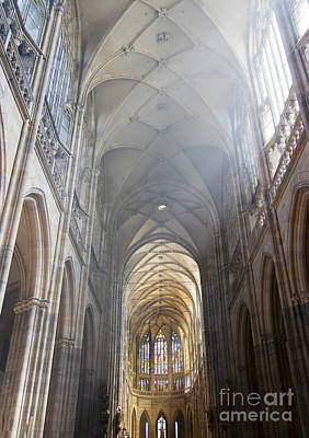 Nave Of The Cathedral Print by Michal Boubin