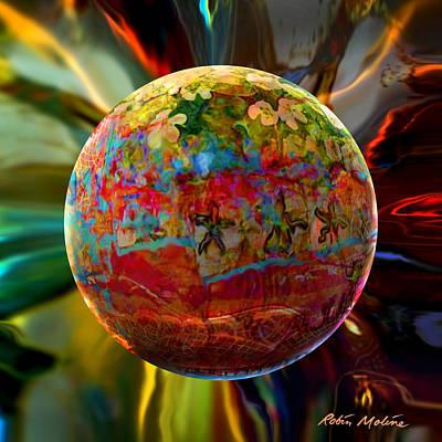 Na'vi Sphere Print by Robin Moline
