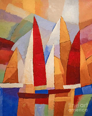 Colorfields Painting - Navigare by Lutz Baar