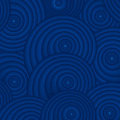 Graphics Painting - Navy Blue Abstract by Frank Tschakert