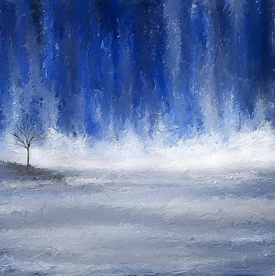 Navy Blue Art Print by Lourry Legarde
