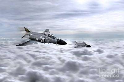Navy Phantoms Print by J Biggadike