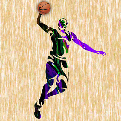 Nba Basketball Player Print by Marvin Blaine