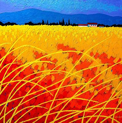 Reeds Painting - Near Carcassonne  by John  Nolan