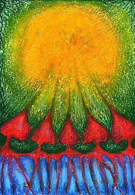 Nearer Sun Print by Wojtek Kowalski