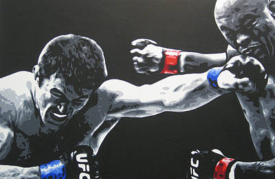 Ufc Painting - Nearly Man by Geo Thomson