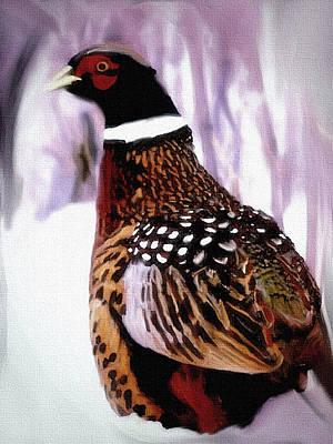 Pheasant Mixed Media - Nebraska Pheasant by Dennis Buckman