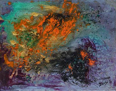 Fiber Glass Painting - Nebula Cloud  by Donna Blackhall