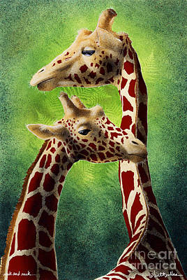 Humor. Painting - Neck And Neck... by Will Bullas
