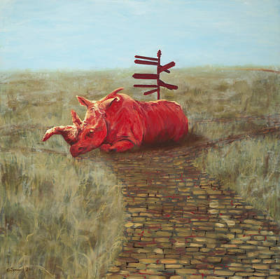 White Rhino Painting - Neckbone by Sarah Soward