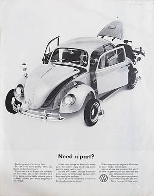 Vintage Car Advert Digital Art - Need A Part? by Georgia Fowler