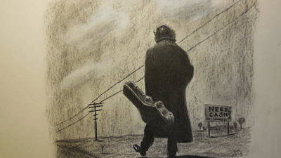 Johnny Cash Drawing - Need Cash/johnny Cash by Paul McKee