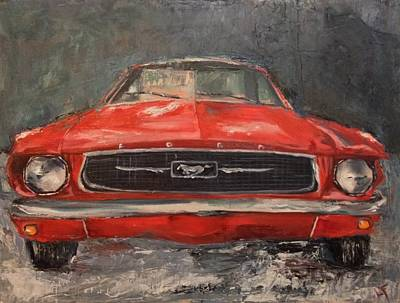 Ford Mustang Painting - Need For Speed by Lindsay Frost