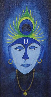 Shri Krishna Painting - Neelvarna Shri Krishna by Ajay Mane