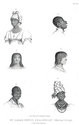 Negro And Indian Heads Print by British Library