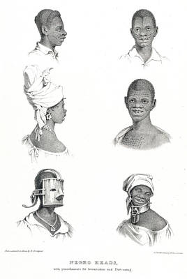 Negro Heads Print by British Library