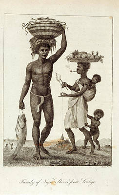 Negro Slaves Print by British Library