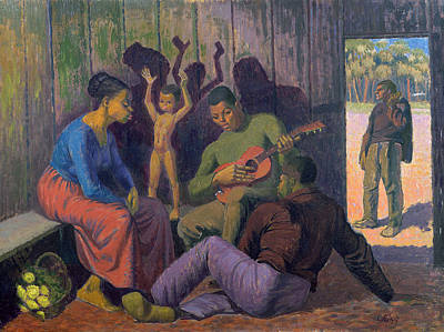 Slaves Painting - Negro Spritual, 1959 by Osmund Caine