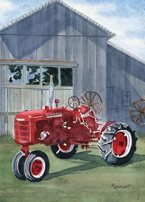 Machinery Painting - Neighbor Don's Farmall by Marsha Elliott
