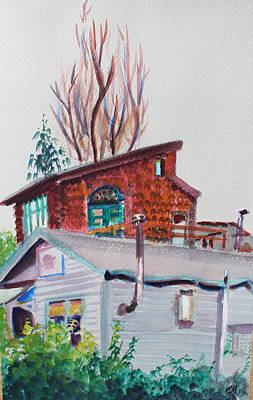 Neighbor Houses In Berkeley Original by Asha Carolyn Young