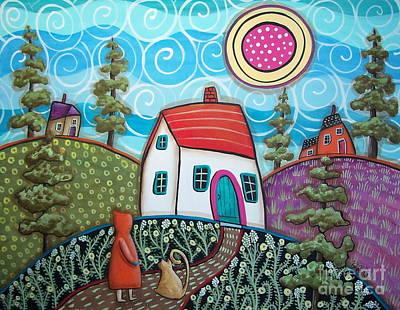 Naive Art Painting - Neighbors by Karla Gerard