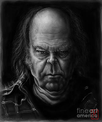 Neil Young Drawing - Neil Young by Andre Koekemoer
