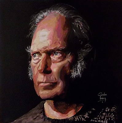 Neil Young Old Man Print by Gordon Irving