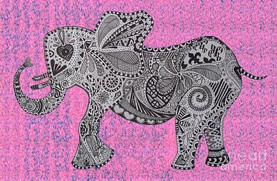 Nelly The Elephany Cycadelik Print by Karen Larter