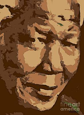 Digital Painting - Nelson Mandela by Dragica  Micki Fortuna