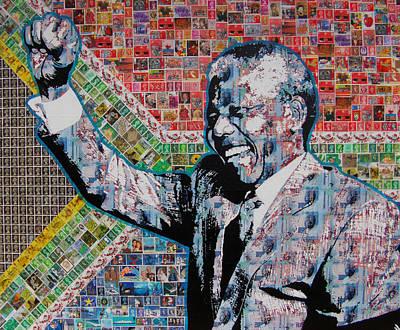 Nelson Mandela Print by Gary Hogben
