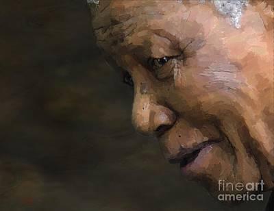 Statesmen Digital Art - Nelson Mandela by Les Allsopp