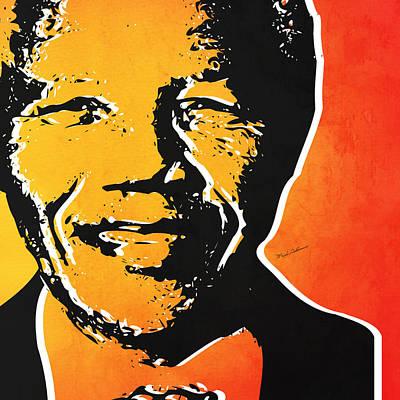Mandela Painting - Nelson Mandela by Mark Ashkenazi