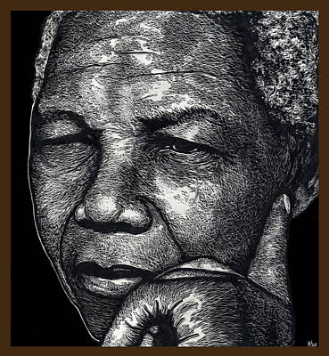 Segregation Mixed Media - Nelson Mandela Portrait by Ricardo Levins Morales