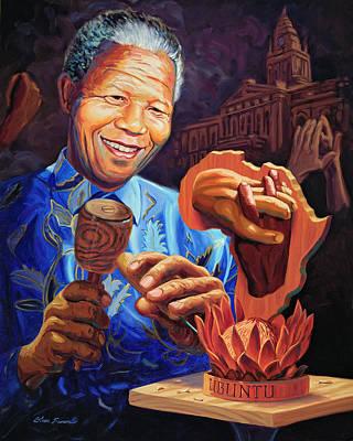Mandela Painting - Nelson Mandela by Steve Simon