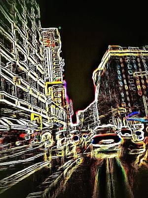 Manipulation Photograph - Neon City Night by Eddie G