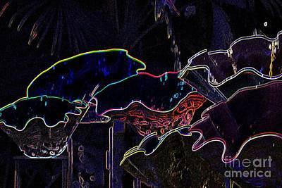 Neon Shells Print by Edna Weber