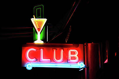Neon Sign Club Print by Melany Sarafis