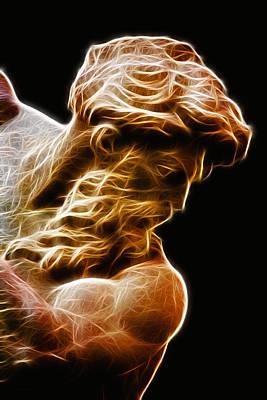 Poseidon Digital Art - Neptune by Taylan Apukovska