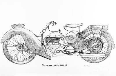 Ner - A - Car Ariel 1000 C.c. Print by Stephen Brooks