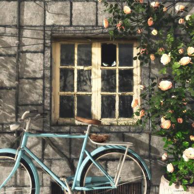Roses Digital Art - Nesting by Cynthia Decker