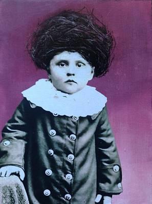 Mixed Media - Nesting Series Purple Boy by Susan McCarrell