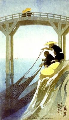 Net Fishing 1913 Print by Padre Art