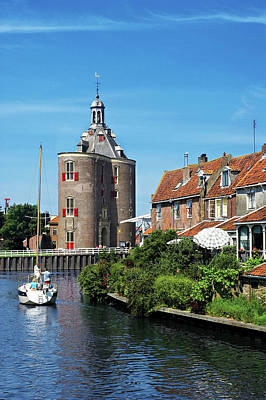 Red Roof Photograph - Netherlands, Enkhuizen, Classic Dutch by Miva Stock