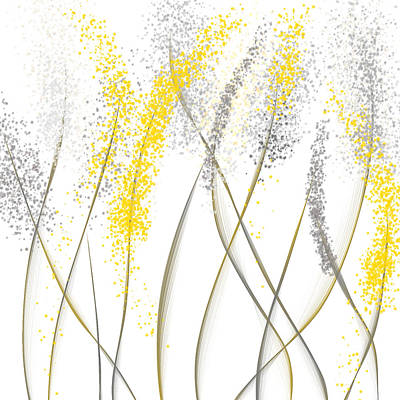 Brilliant Painting - Neutral Sunshine - Yellow And Gray Modern Art by Lourry Legarde